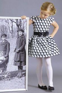 6bc76b8fdb8e3dd Весенне-осеннее Платье для девочки из жаккарда, / 404-416-ВВЖ