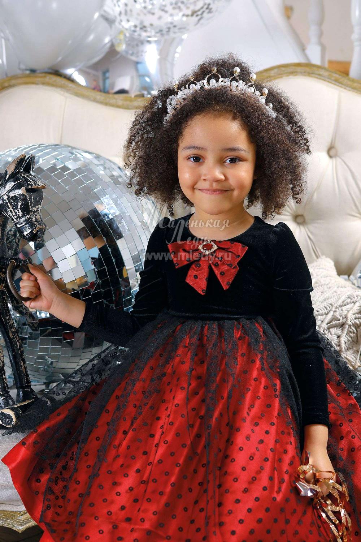 Черно-красное платье для девочки