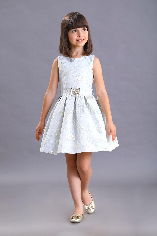 картинка Платье нарядное 1983-120-ВПЖК (голубой) от магазина Маленькая Леди