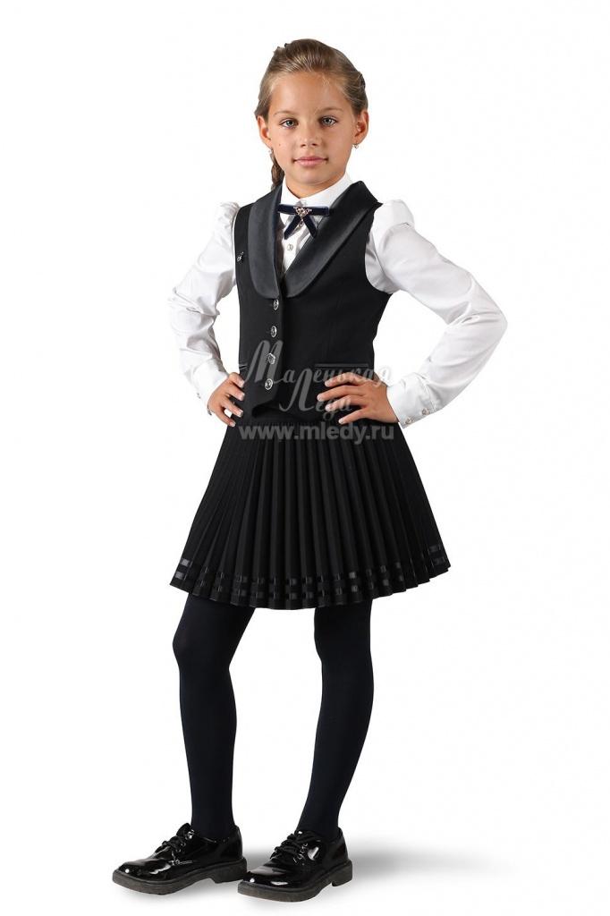 bf83d9c6c43 Модная школьная форма для девочек комплект юбка