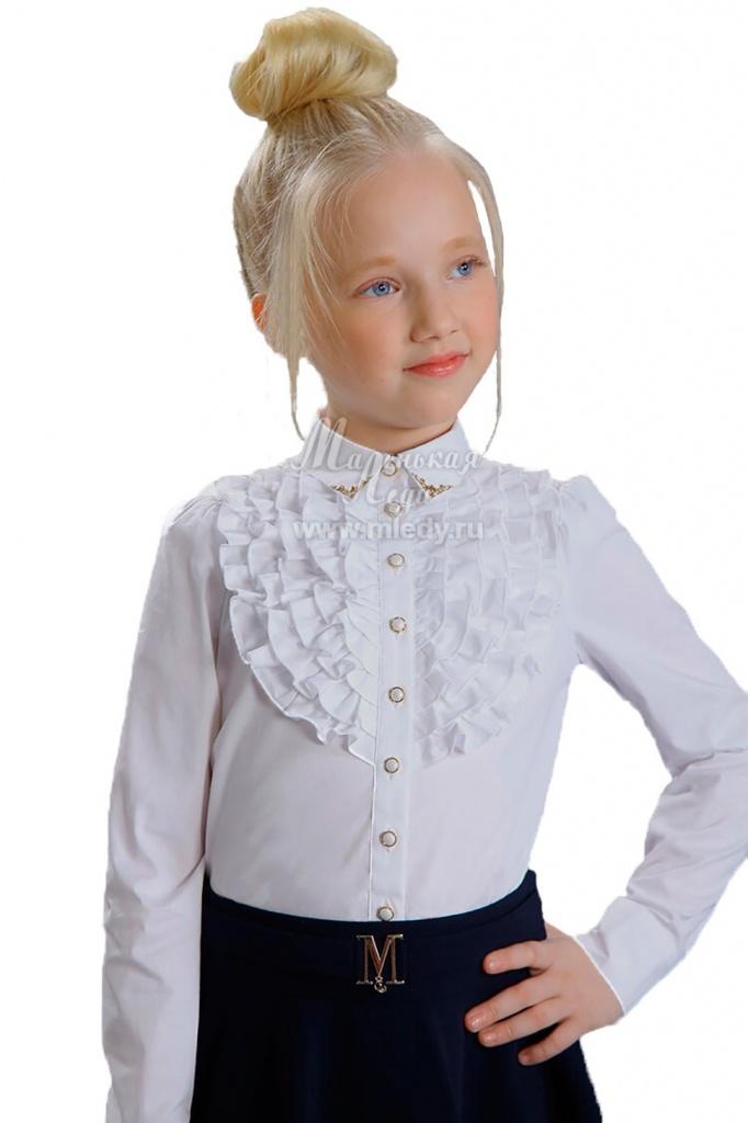 3192ac9bf8a Привлекательная белая блузка для девочки в школу из ...